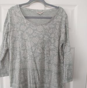 Lucky Brand Womens Round Neck Floral T